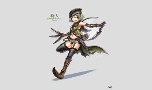Rating: Safe Score: 83 Tags: bow_(weapon) breasts gia gray green_eyes green_hair original signed weapon zettai_ryouiki User: FoliFF