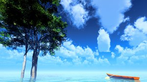 Rating: Safe Score: 106 Tags: 3d boat clouds original scenic sky summer tree water y-k User: STORM