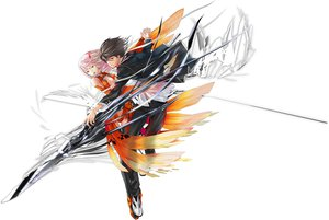 Rating: Safe Score: 138 Tags: guilty_crown jpeg_artifacts ouma_shu redjuice weapon white yuzuriha_inori User: Wiresetc
