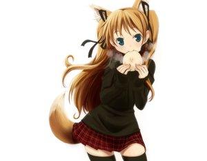Rating: Safe Score: 130 Tags: animal_ears foxgirl kanon sawatari_makoto tail wadapen white User: anaraquelk2