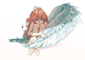 Rating: Safe Score: 152 Tags: barefoot hrd loli long_hair nude orange_hair original red_eyes white wings User: Flandre93