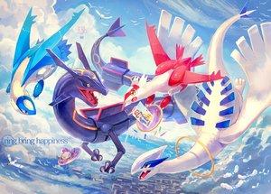 Rating: Safe Score: 36 Tags: animal bird clouds latias latios lugia meowth nagakura_(seven_walkers) pikachu pokemon rayquaza satoshi_(pokemon) sky wingull User: RyuZU