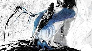 Rating: Safe Score: 160 Tags: black_hair bones chain collar mizutame_tori original shackles shorts wings User: Flandre93