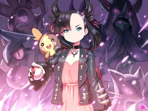 Rating: Safe Score: 31 Tags: aqua_eyes black_hair choker dress grimmsnarl kenron_toqueen liepard mary_(pokemon) morpeko pokemon scrafty signed toxicroak User: mattiasc02