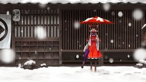 Rating: Safe Score: 65 Tags: brown_hair hakurei_reimu long_hair nishiuri snow touhou User: SciFi