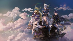 Rating: Safe Score: 46 Tags: armor barefoot blonde_hair blue_eyes blue_hair building clouds fairy green_eyes hrist_valkyrie lenneth_valkyrie long_hair purple_hair red_eyes silmeria_valkyire sky ushas valkyrie_profile User: BattlequeenYume