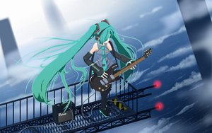 Rating: Safe Score: 41 Tags: guitar hatsune_miku instrument vocaloid User: rargy