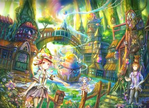 Rating: Safe Score: 23 Tags: 2girls animal animal_ears bird breasts brown_eyes brown_hair building camera city dress fairy fish flowers food grass green_eyes hat ian16 male original pink_hair purple_hair short_hair stairs sword tail thighhighs tie tree twintails water weapon User: RyuZU