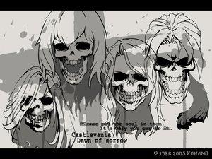 Rating: Safe Score: 7 Tags: castlevania monochrome skull User: Oyashiro-sama