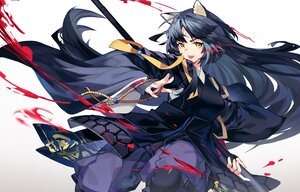 Rating: Safe Score: 50 Tags: animal_ears arknights armor black_hair blood doggirl gloves gradient japanese_clothes long_hair saga_(arknights) samurai spear tsumiki_(12756023) weapon yellow_eyes User: otaku_emmy