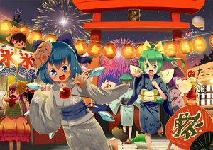 Rating: Safe Score: 34 Tags: apple black_hair blue_eyes blue_hair blush bow candy cirno daiyousei fairy fan festival fireworks flandre_scarlet food fruit green_eyes green_hair group hakurei_reimu hat hata_no_kokoro hong_meiling japanese_clothes kamishirasawa_keine kimono linda_b long_hair mask night ponytail purple_eyes purple_hair red_eyes red_hair short_hair skirt sky stars summer tears torii touhou tree vampire wings wriggle_nightbug yukata yukkuri_shiteitte_ne User: C4R10Z123GT