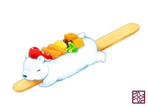 Rating: Safe Score: 45 Tags: animal bear food fruit lilac_(pfeasy) orange_(fruit) original strawberry waifu2x white User: otaku_emmy