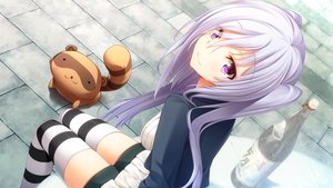 Rating: Safe Score: 326 Tags: animal ch@r drink game_cg gleam_garden_no_shoujo gray_hair long_hair purple_eyes shirayuki_(gleam_garden_no_shoujo) thighhighs twintails User: Wiresetc