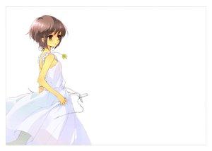 Rating: Safe Score: 87 Tags: brown_eyes dress gray_hair itou_noiji nagato_yuki short_hair suzumiya_haruhi_no_yuutsu white User: SciFi