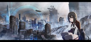 Rating: Safe Score: 81 Tags: airship akky_(akimi1127) animal blue building cape cat city night original scenic thighhighs water waterfall User: RyuZU