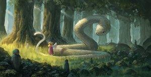 Rating: Safe Score: 64 Tags: animal fjsmu forest grass hat loli moriya_suwako snake touhou tree User: RyuZU