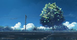 Rating: Safe Score: 111 Tags: bicycle clouds grass hatsuame original scenic sky stairs summer tree User: STORM