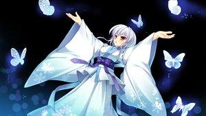 Rating: Safe Score: 68 Tags: butterfly game_cg gray_hair japanese_clothes manatsu_no_yoru_no_yuki_monogatari mikeou red_eyes shinjou_yukina User: Wiresetc