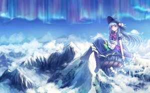 Rating: Safe Score: 18 Tags: hat hinanawi_tenshi long_hair ribbons scenic t.m_(aqua6233) touhou User: C4R10Z123GT