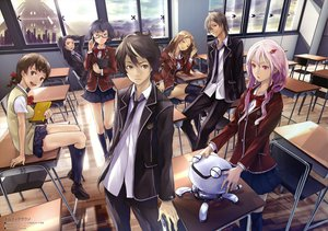 Rating: Safe Score: 158 Tags: fyu-neru guilty_crown kuhouin_arisa kusama_kanon menjou_hare ouma_shu redjuice samukawa_yahiro tamadate_souta yuzuriha_inori User: gnarf1975