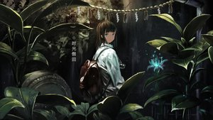 Rating: Safe Score: 64 Tags: akdove brown_hair camera dark flowers forest green_eyes original rope tree User: BattlequeenYume
