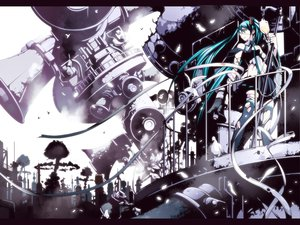 Rating: Safe Score: 54 Tags: eyepatch hatsune_miku torigoe_takumi twintails vocaloid User: HawthorneKitty