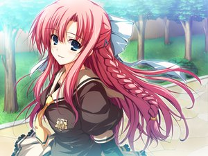 Rating: Safe Score: 97 Tags: akatsuki_no_goei blue_eyes game_cg long_hair nikaidoh_aya red_hair seifuku tomose_shunsaku User: Wiresetc