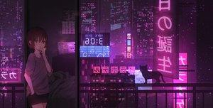 Rating: Safe Score: 79 Tags: animal building cat catzz city night original purple scenic smoking User: FormX