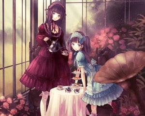 Rating: Safe Score: 105 Tags: 2girls dress flowers lolita_fashion original yasukura_(shibu11) User: Wiresetc