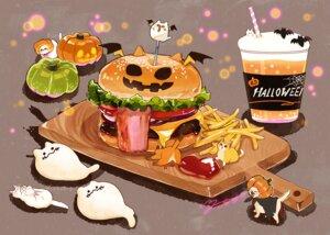 Rating: Safe Score: 11 Tags: animal cape cat drink food hakuchizu_(jedo) halloween nobody original pumpkin signed watermark User: otaku_emmy