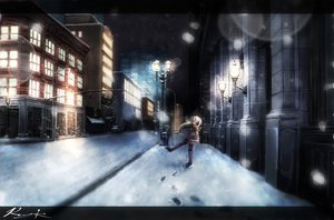 Rating: Safe Score: 56 Tags: braids night ray-k scarf sekka_yufu snow utau User: FormX