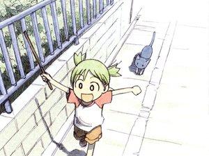 Rating: Safe Score: 15 Tags: animal azuma_kiyohiko cat koiwai_yotsuba yotsubato! User: Oyashiro-sama