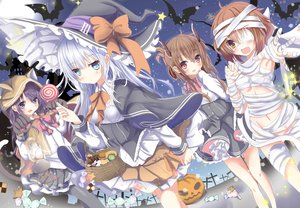 Rating: Safe Score: 95 Tags: akatsuki_(kancolle) aliasing animal_ears anthropomorphism aqua_eyes aruka_(alka_p1) bandage blush bow brown_eyes brown_hair candy catgirl cosplay demon dress eyepatch food gloves gray_eyes group halloween hat hibiki_(kancolle) hoodie horns ikazuchi_(kancolle) inazuma_(kancolle) kantai_collection lollipop long_hair navel night pumpkin purple_hair red_eyes skirt tail white_hair witch witch_hat User: luckyluna