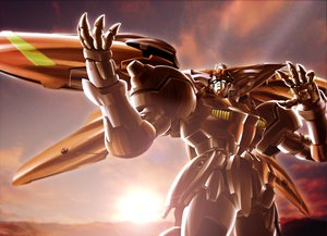 Rating: Safe Score: 24 Tags: mecha mobile_fighter_g_gundam shoumaru_(gadget_box) sunset User: SonicBlue