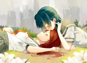 Rating: Safe Score: 47 Tags: 2girls blue_hair flowers kiss kurosawa_ruby long_hair love_live!_school_idol_project love_live!_sunshine!! red_hair seifuku sellel shoujo_ai tie tsushima_yoshiko User: RyuZU