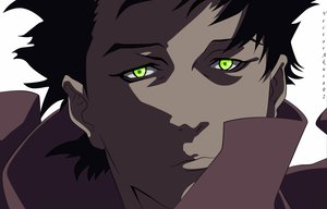 Rating: Safe Score: 21 Tags: all_male black_hair close ergo_proxy green_eyes male short_hair vector vincent_law User: akusa02