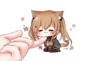 Rating: Safe Score: 55 Tags: animal_ears anthropomorphism blush brown_hair catgirl cat_smile chibi girls_frontline honyang long_hair pantyhose skirt tail twintails ump-9_(girls_frontline) User: BattlequeenYume