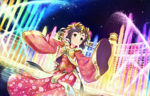 Rating: Safe Score: 8 Tags: annin_doufu black_hair building city green_eyes headdress idolmaster idolmaster_cinderella_girls idolmaster_cinderella_girls_starlight_stage night ribbons short_hair stars tagme_(character) water User: luckyluna