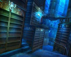 Rating: Safe Score: 180 Tags: book building kaitan long_hair magic original scenic skirt stairs User: Flandre93