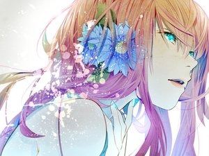 Rating: Safe Score: 165 Tags: aqua_eyes close flowers keishi long_hair megurine_luka pink_hair vocaloid User: HawthorneKitty