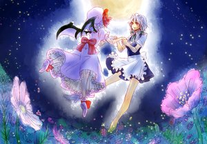 Rating: Safe Score: 8 Tags: izayoi_sakuya maid remilia_scarlet sunata touhou wings User: 秀悟