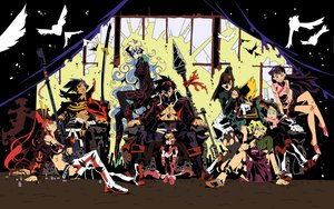 Rating: Questionable Score: 77 Tags: boota gainax kamina kinon kittan kiyal kiyoh nia_teppelin simon tengen_toppa_gurren_lagann vector yoko_littner User: alphamai1300