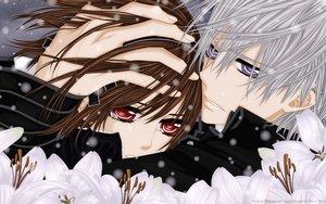Rating: Safe Score: 31 Tags: brown_hair flowers kiryu_zero red_eyes tagme tears vampire vampire_knight yuuki_cross User: gnarf1975