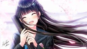 Rating: Safe Score: 48 Tags: black_hair blush braids close kazuharu_kina long_hair original signed User: RyuZU