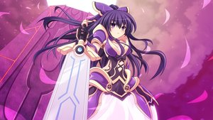 Rating: Safe Score: 60 Tags: cross_(crossryou) date_a_live long_hair purple_eyes purple_hair sword weapon yatogami_tohka User: SciFi