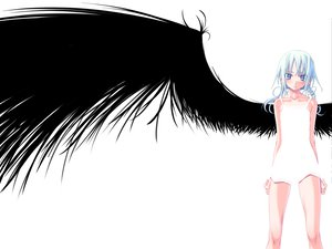 Rating: Safe Score: 29 Tags: blue_eyes dress sakuya_tsuitachi white white_hair wings User: 秀悟