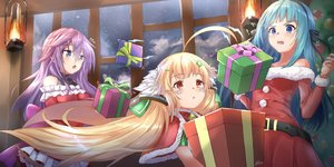 Rating: Safe Score: 65 Tags: anemone_(flower_knight_girl) anthropomorphism aqua_hair azur_lane bell blonde_hair blue_eyes bow cape christmas closers crossover dress eldridge_(azur_lane) flower_knight_girl loli long_hair pnt_(ddnu4555) purple_hair red_eyes santa_costume signed twintails violet_(closers) User: otaku_emmy