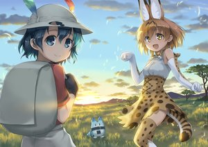 Rating: Safe Score: 25 Tags: animal_ears anthropomorphism catgirl kaban kemono_friends lucky_beast_(kemono_friends) remiina_(reming185) serval tail User: mattiasc02