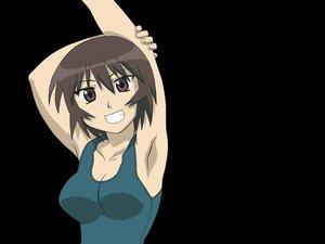 Rating: Safe Score: 9 Tags: azumanga_daioh black kagura swimsuit User: Oyashiro-sama