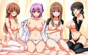 Rating: Questionable Score: 525 Tags: ayane breasts dead_or_alive group hitomi kasumi lei_fang navel nipples panties tachibana_omina thighhighs underwear User: HawthorneKitty